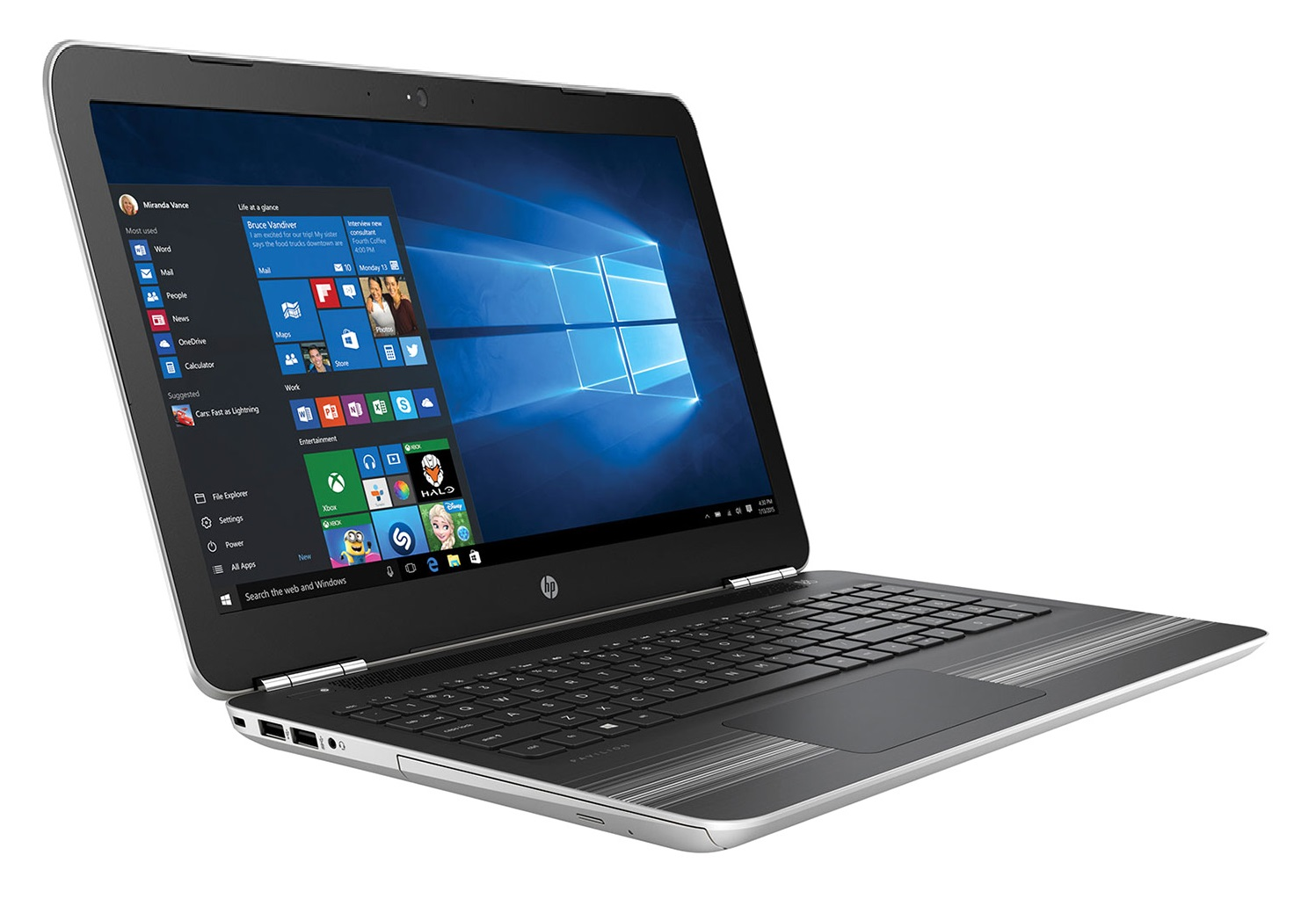 Laptop HP Pavilion 15-au071tx, Core i7 6500U/4GB/1TB/Win 10 (X3C20PA)